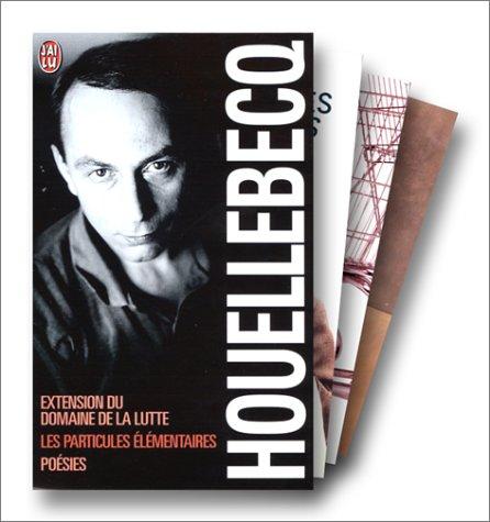 Michel Houellebecq, coffret 3 volumes : Extension du domaine de la lutte ; Les particules élémentaires ; Poésies