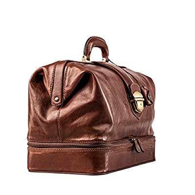Maxwell-Scott® Handcrafted Italian Full Grain Leather Practitioner Doctors Bag (The DonniniL) - laptop-briefcases, laptop