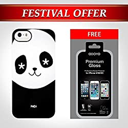 Back Cover Case for Apple I Phone 5/5S Metal Smith, Designed by ODOYO in USA, includes Front Screen Clear Protector, Microfiber cleaning cloth, Screen Bubble Remover, Dust Removal Sticker (Odoyo Panda)