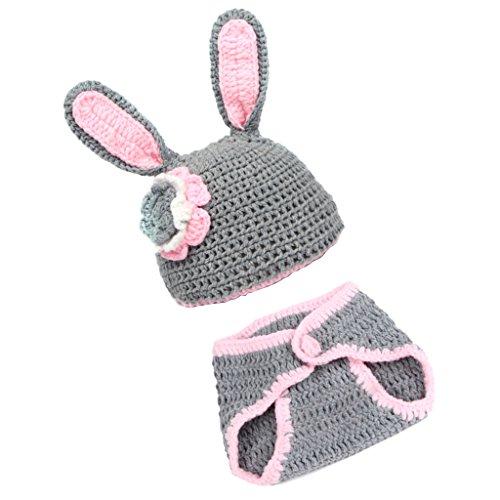 Sharplace Neugeborene Baby Set Hasen Kostüm Strick Häkel Babymütze Babykostüm - Kostüm Für Neugeborene