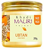 Khadi Mauri Herbal Ubtan Pack - Skin Lightening & Tan Removal - Ancient Ayurvedic Healing - Enriched with Turmeric - 200 g