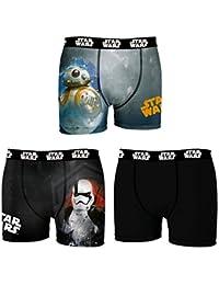 Star Wars Boxer, Shorts para Hombre (Pack de 3)