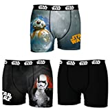 Star Wars Herren Panties Boxer, 3er Pack, (Multicolor 3D1), Small