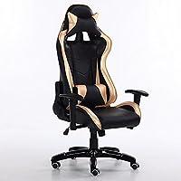 Sedia elettrica archetto ergonomico sedia computer,nero e giallo - Reclinabili Computer Sedie