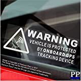 5 x WARNING On Board GPS Tracking Device Stickers-Car,Van,Boat,Bike,Sign,Secure,Security,Protection,Safety,Alarm,Dash