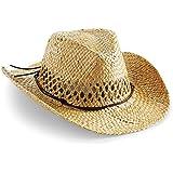 Beechfield Unisex Sommer Strohhut / Cowboyhut