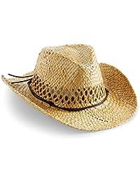 Beechfield - Sombrero de paja Modelo cowboy Summer Unisex Hombre Mujer - Verano / Calor / Naturaleza