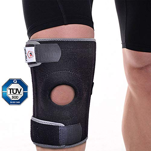 Winmax Kniebandage, Verstellbarer Knieschoner mit Patellaöffnung für Meniskus, Schmerzlinderung und Genesung, Knieschutz für Sport und Reha - Damen und Männer