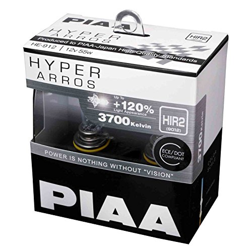 PIAA Hyper Arros HIR2 Auto-Glühlampen +120{8f9579b99a68b2375a70f7be51a1770fb182cd2113fc390cec8d582ad80a95a7} (Doppelt Pack) HE912
