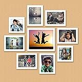 "[Sponsored]Ajanta Royal Set Of 9 Individual Photo Frames (6-5""x7"", 2-5""x5"", 1-8""x10"" Inch) White : A-90C"