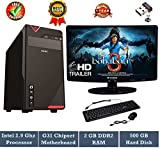 #8: Rolltop Assembled Desktop Computer |INTEL CORE 2 DUO 2.9 GHZ Processor |G 31 Motherboard | 15.6 inch LED Monitor |USB FRONTECH Keyboard Mouse | Mini Wi Fi USB Adaptor | Windows 7(Trial) | MS OFFICE Trial Installed(RAM 2GB/HD 500GB)