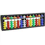 Tiyee Tragbare Arithmetik Soroban w / Bunte Perlen Mathematik Berechnen Werkzeug Abacus für Kinder Kinder für den Bauingenieur für Jungen und Mädchen im Alter von 3, 4 und 5 Jahren Creative Fun Set | Bestes Geschenk für Kinder