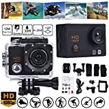Sport Camera TAOtTAO Wasserdichte Kamera HD 1080P Sport Action Kamera DVR Cam DV Video Camcorder (Schwarz)