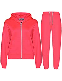 A2Z 4 Kids® Kinder Mädchen Jungen einfarbig Trainingsanzug Kapuzenpullover Hosen Jogginganzug Jogginghose Neu Alter 2 3 4 5 6 7 8 9 10 11 12 13 Jahren
