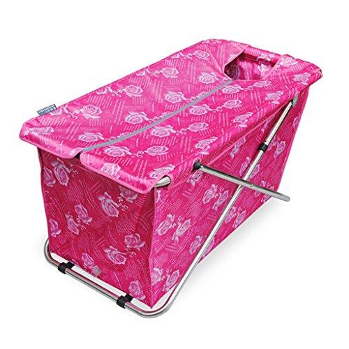 JCOCO Faltbare Badewanne 108 * 55cm Adult Household Verdickung übergroßen Portable Folding Badewanne Isolierung Durable leicht zu reinigen (Farbe : 2) -