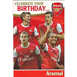 ARSENAL BIRTHDAY CARD - GENERIC WITH DOOR HANGER