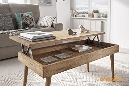 Tavolini Da Salotto In Legno Massiccio : Hogar tavolino da salotto elevabile design vintage in legno