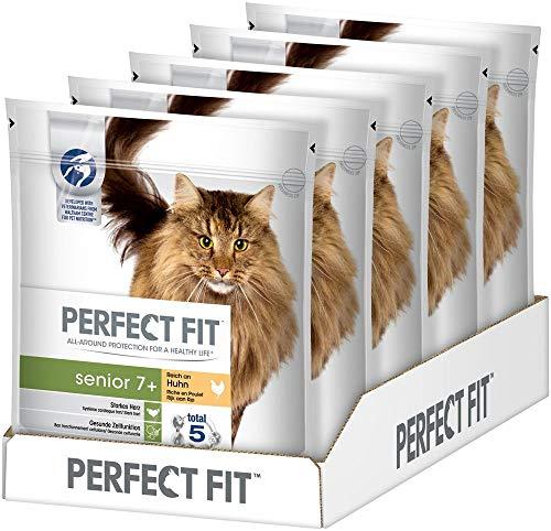 Perfect Fit Senior 7+, Trockenfutter für Senioren Katzen ab 7 Jahren, Unterstützt die Gesundheit