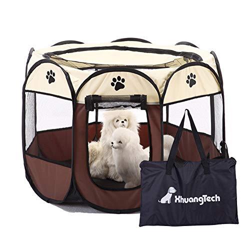 XianghuangTechnology Jaula de tela suave, portátil, plegable, para mascotas, perros, gatos, cachorros, uso interior y exterior