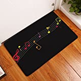 Tone Musical Tapis Sallle de Bain Paillasson Moderne Paon Motif 40cm x 60cm (E)