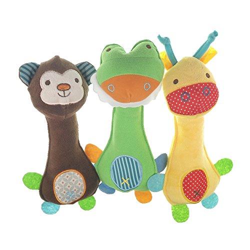 MUROAD 3 Stück Haustier Hundespielzeug ,Quietschspielzeug für kleine und mittelgroße Welpen Interaktives Spielzeug