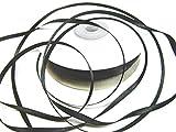 CaPiSo 100m 3mm Breit Satin Schleifenband Geschenkband Satinband Dekoband Hochzeit Weihnachten (Schwarz)