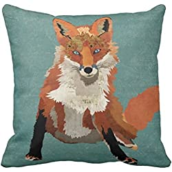 Coussin renard ambre