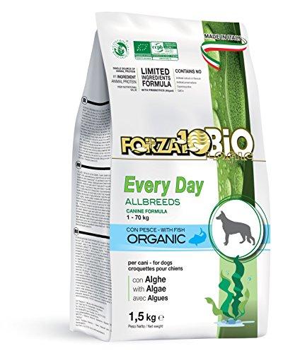 Forza10bio Crocchette al Pesce con Alghe per Cani di Tutte Le Taglie, Bio - 1500 gr
