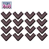 #2: Store2508 Corner Guards for Child Infant Safety with Strong Double Sided Tape & Instructions (16 Pcs) (Brown)
