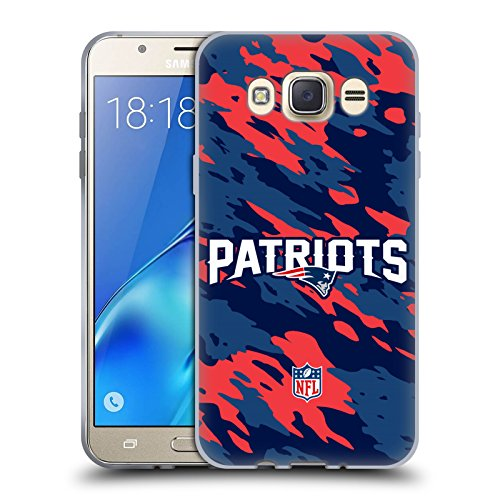 Official NFL Camou New England Patriots Logo Soft Gel Case for Samsung Galaxy J7 (2016)