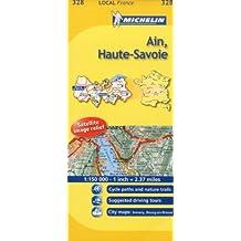 Michelin Map France: Ain, Haute-savoie 328