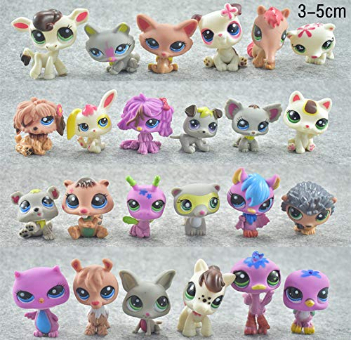 gures - 24Pcs/Set LPS Dolls Rare Pet Shop Action & Toy Figures Tiger Cat Lps Dog Dachshund Collie Cat Patrulla Canina - by 1 PCs ()