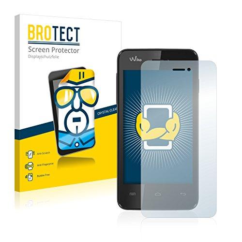 BROTECT Schutzfolie kompatibel mit Wiko Kite [2er Pack] klare Bildschirmschutz-Folie