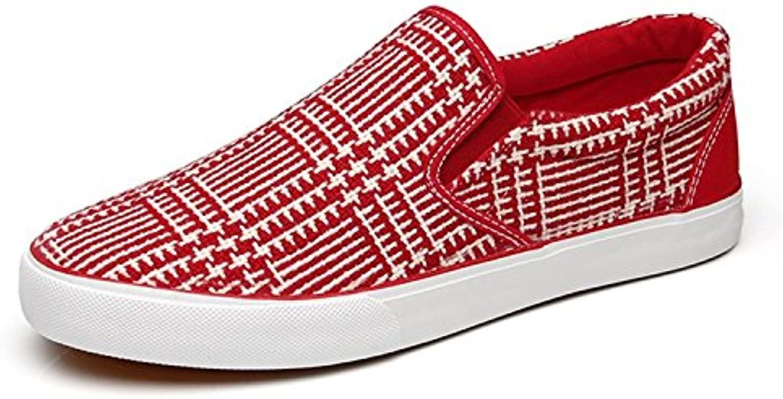 Hellomiko Herren Lazy Shoes Casual Niedrige Sneakers Wohnungen (Schwarz  44)