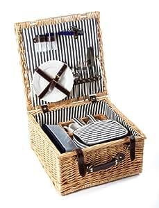 """The Greenfield Collection HP002 - Panier pique-nique """"Sandbanks Classic Willow"""" en osier pour 2 personnes"""