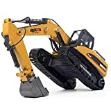 LXWM Rc Excavator 1:14 23CH RC Full Metal Emulational Truck Hydraulic Car Giocattoli per Bambini Car Style Big off Costruzione Stradale Remote Control Truck Autos Hobby