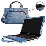 HP Omen 17 Hülle,2 in 1 Spezielles Design eine PU Leder Schutzhülle + Portable Laptoptasche für 17.3