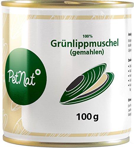 PETNAT Grünlippmuschel Gemahlen Gelenkpulver für Hunde und Katzen Stärkung Gelenke Nahrungsergänzung(100 g)