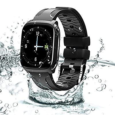 Smartwatches Fitness Tracker with Camera Waterproof Sports Watch Activity Tracker Smart Bracelet Full Screen Touch with Heart Rate Blood Pressure Sleep Monitor pedometer Smart Wristband Compatible with iOS Android by AnvFlik