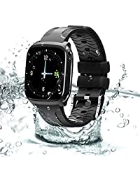 Smartwatches Fitness Tracker with Camera Waterproof Sports Watch Activity Tracker Smart Bracelet Full Screen Touch with Heart Rate Blood Pressure Sleep Monitor pedometer Smart Wristband for Men Women