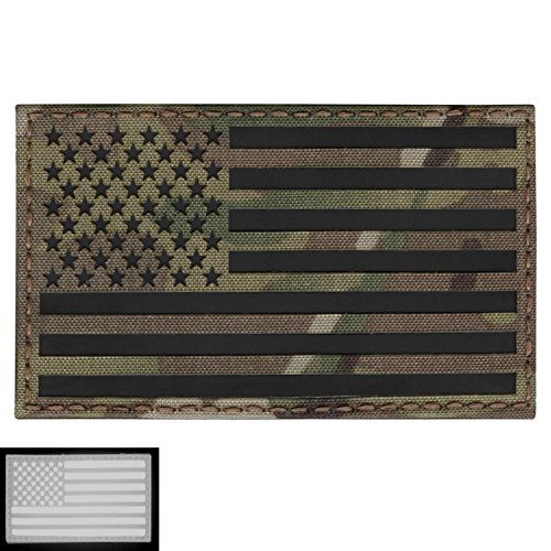 Big 3x5 Multicam Infrared IR USA American Flag IFF Tactical Morale Touch Fastener Patch - Big 3x5 Flag