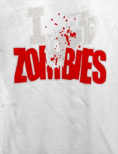 I Kill Zombies T-Shirt Weiß