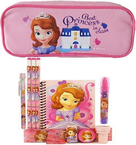 Disney Princess Sofia–Estuche con juego de papelería–Rosa por princesa de Disney Sofía