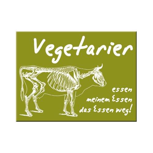 Nostalgic-Art 14247 SMILE - Vegetarier, Magnet 8x6 cm -