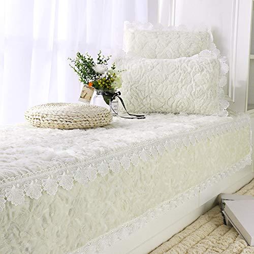 DULPLAY Nicht-Slip Erker-Pads, Weiches Einfache Fenster-Bank-Matte Gesund Haut-freundlich Tatami Fußboden-matten Balkone-matten- Weißer Reis 90x180cm(35x71inch)