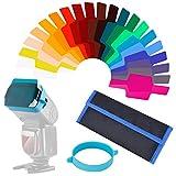 Queta Universal Kamera Flash Gels Farbkorrektur Waage und Filter Kit (20Stück)