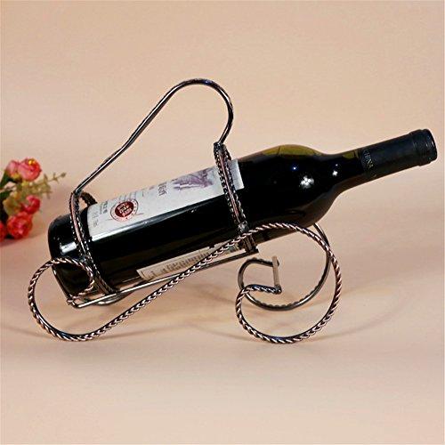 vigvog Retro Tisch Weinregal, zinntheken Wein Halter Freistehend Rack Champange Flasche Rack Halter Aufbewahrung Organisation (Chain Halter Link)