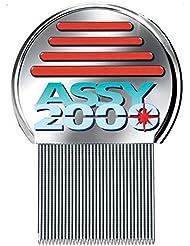 ASSY 2000 - Peigne antipoux antilentes - en acier trempé inoxydable avec dents micro-cannelées