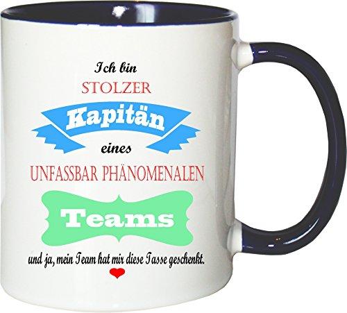 Mister Merchandise Becher Tasse Stolzer Kapitän eines unfassbar phänomenalen Teams Kaffee...