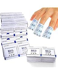 Vishine Ensemble de 200 pcs Nail Art Foil Wraps Dissolvant Soak Off Remover Pad pour UV Gel Vernis à Ongle Manucure